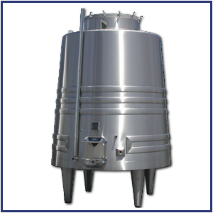 Truncated stainless steel tank