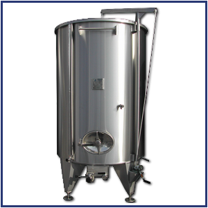 Mobile ceiling stainless steel tank