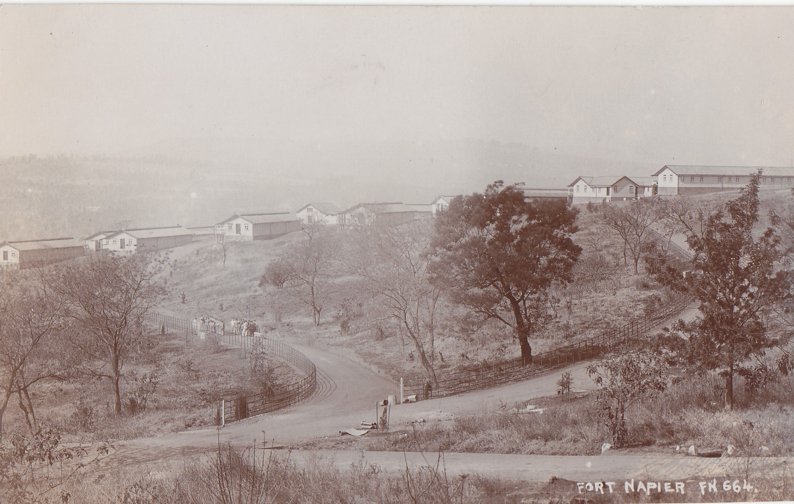 Generalansicht des Lagers Fort Napier