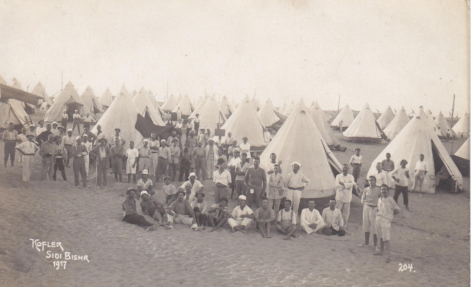 Spitzzelte in Sidi Bishr - Aufnahme Kofler 204 1917