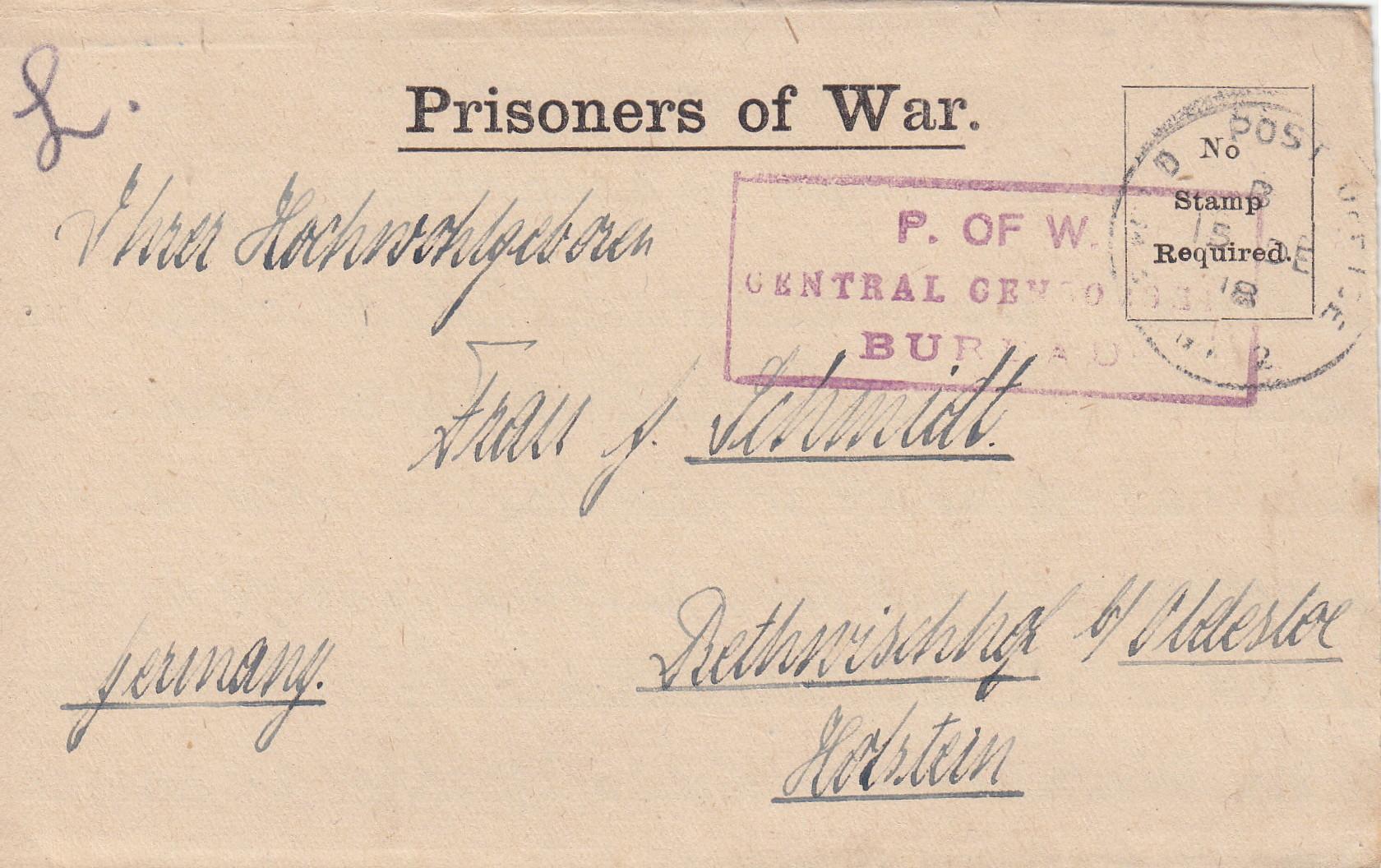 Gefangenenpost in die Heimat - Hauptmann Gutknecht 2447