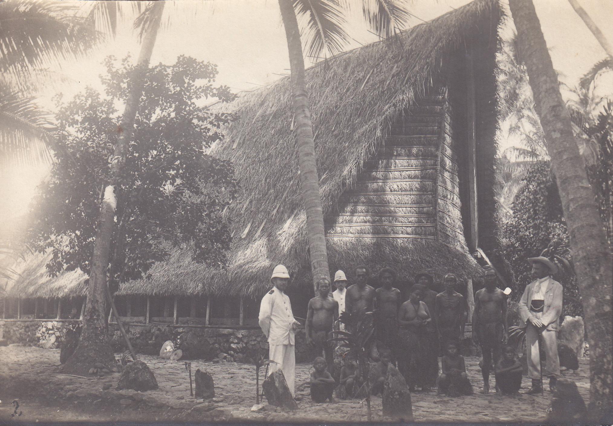 Typisches Haus auf Yap