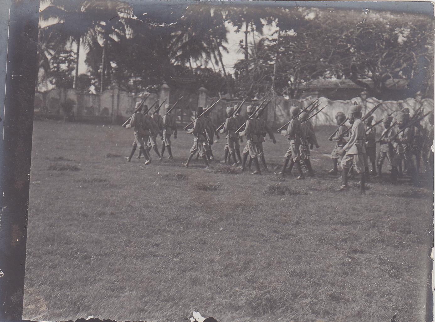 Soldaten des Sultans von Sansibar