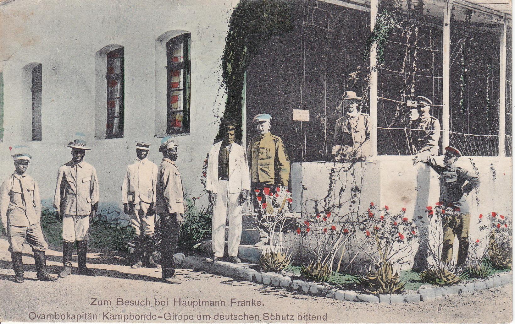 Hauptmann Franke, Ovambokapitän Kampbonde-Gitope