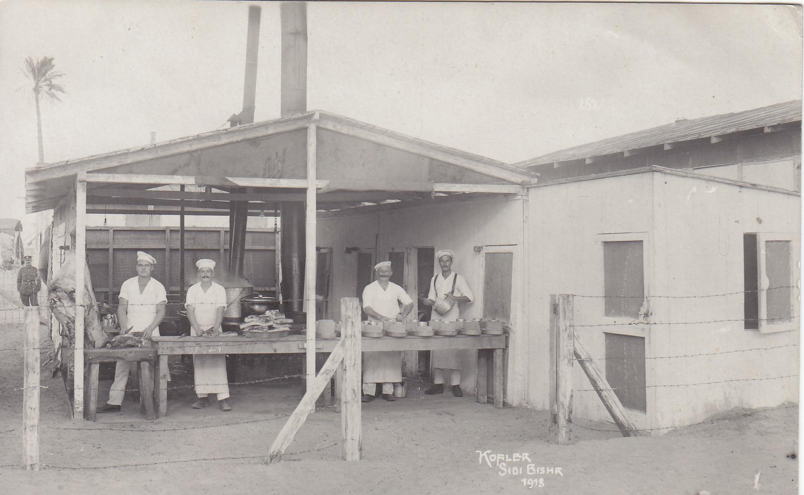 Lagerküche Camp. No 814 - Aufnahme Kofler 1918