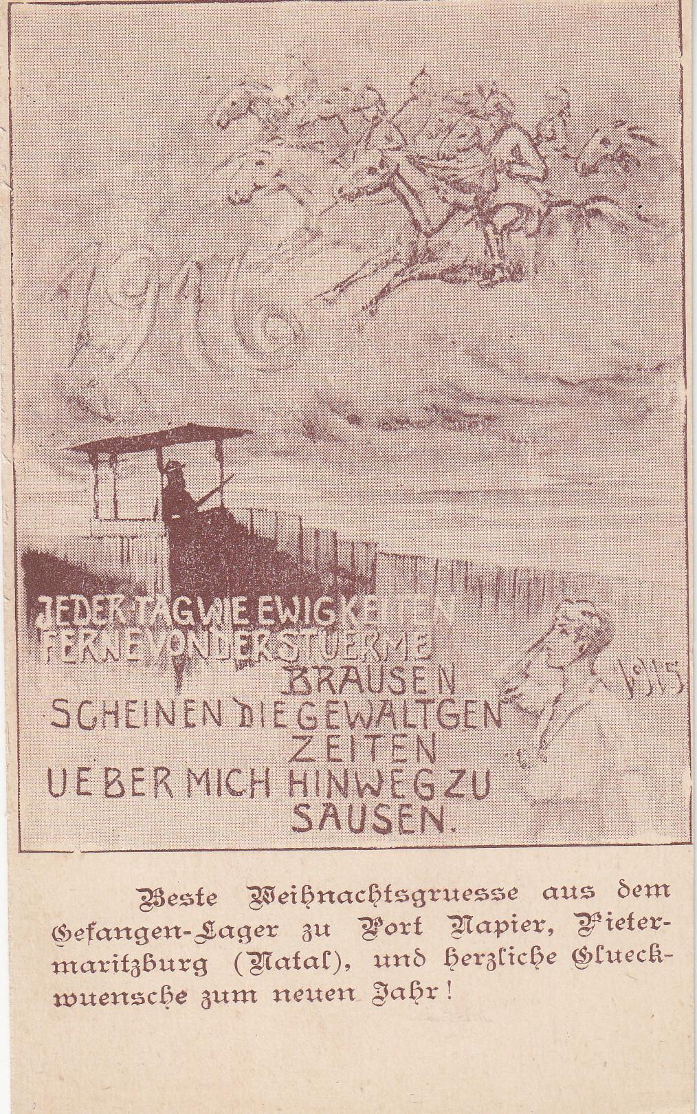 Weihnachtsgrüße aus Fort Napier 1915