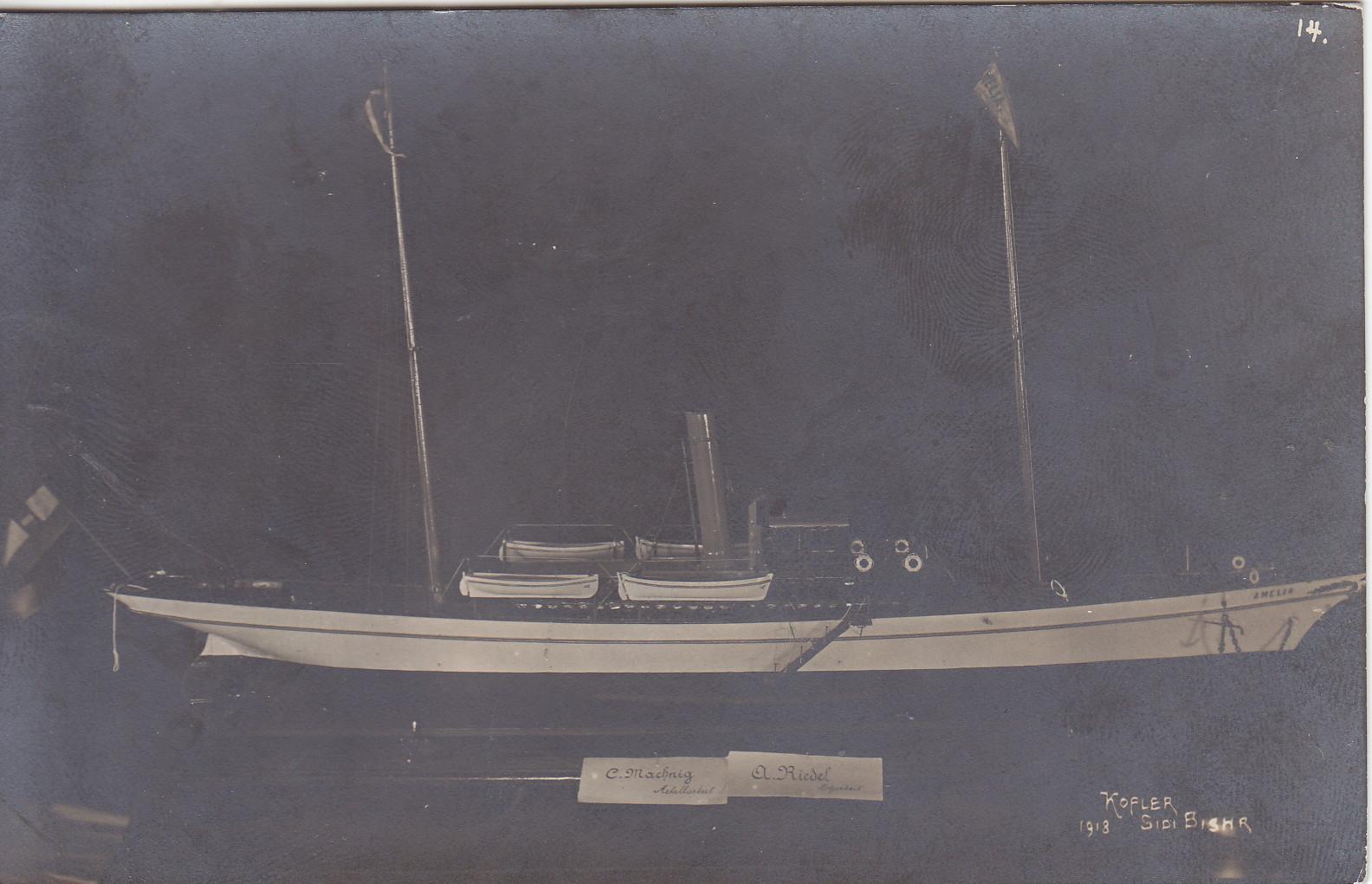 Wettbewerb im Lager Modell von C. Maching und A. Riedel - Aufnahme Kofler 14 1918