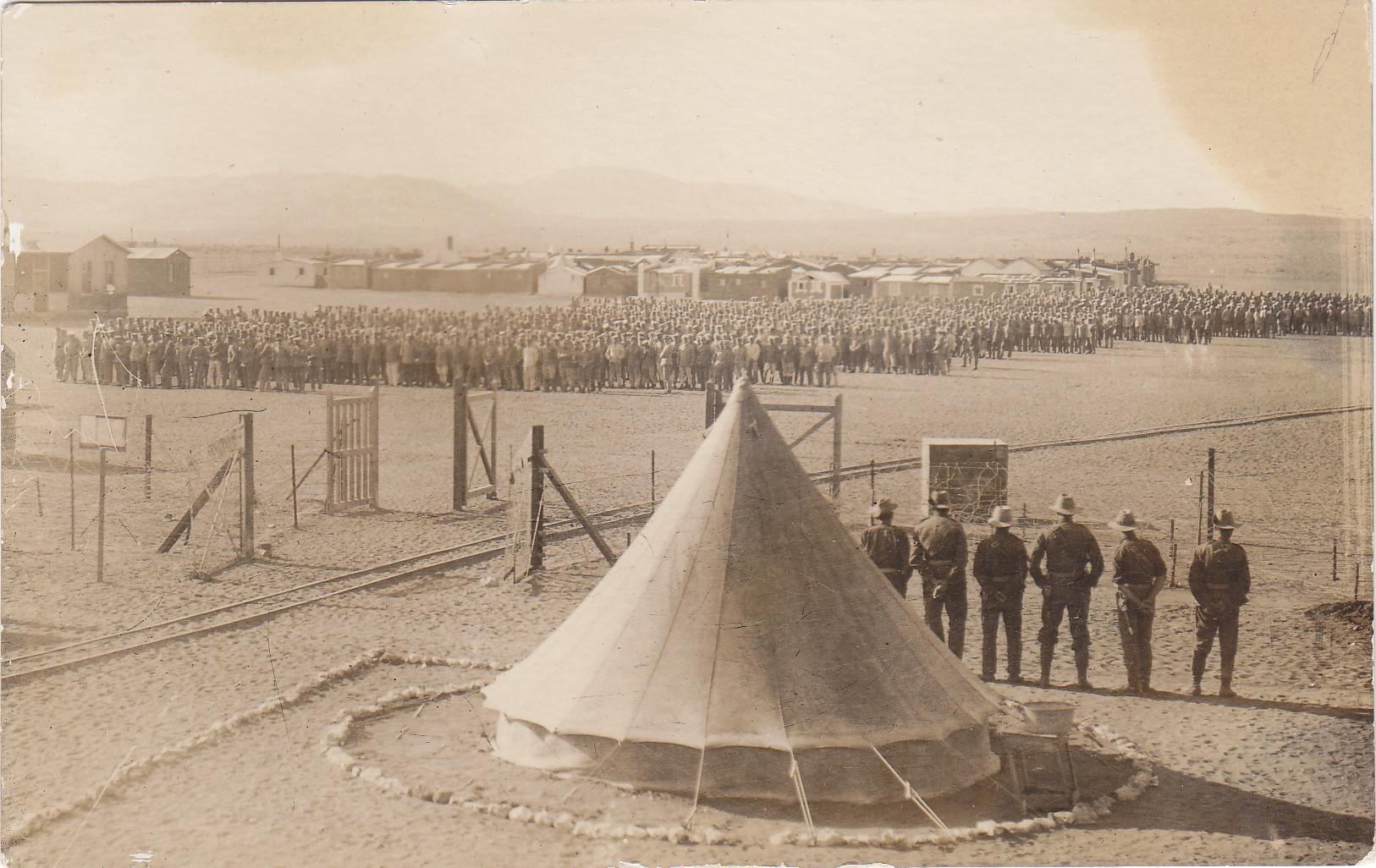Das Gefangenenlager von Aus 1916-1917