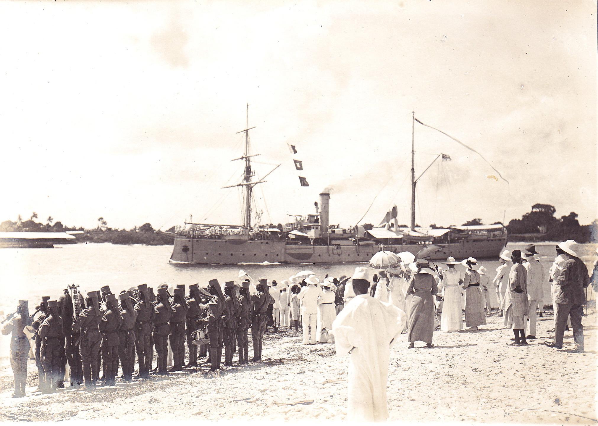 Verabschiedung und Ausreise S.M.S. Seeadler am 09.01.1914 zurück nach Deutschland II