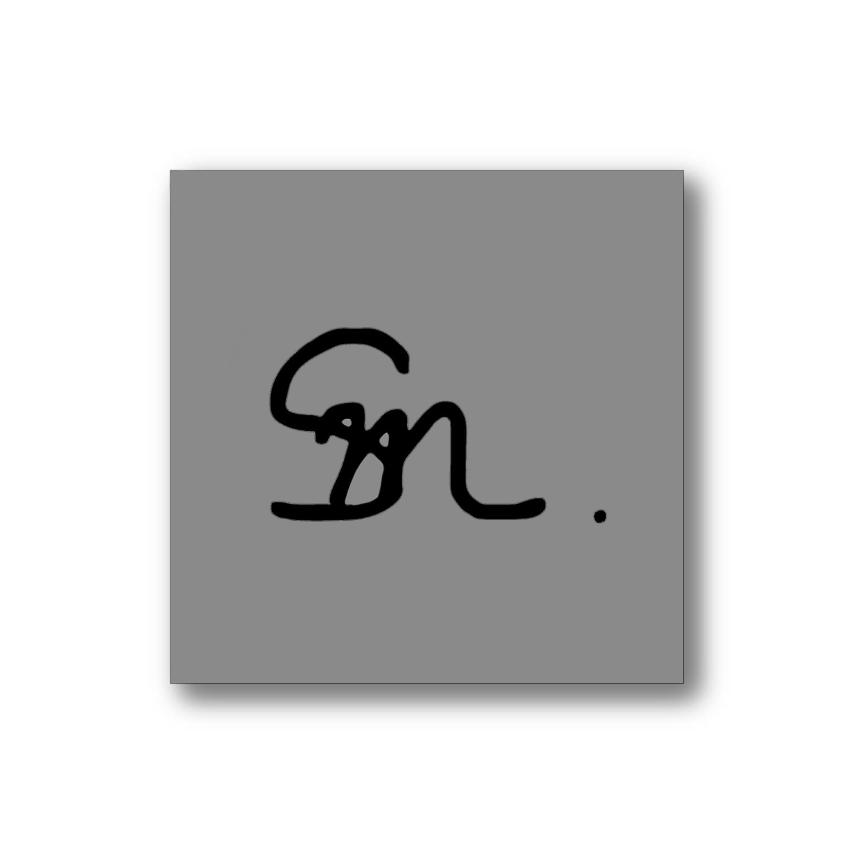Sm . Sticker Gray(5×5cm)