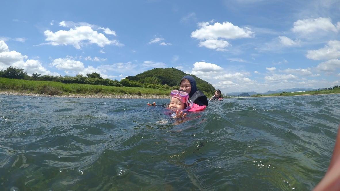 長良川流され遊びをプライベートで