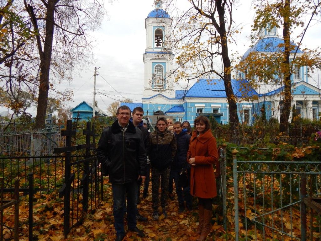 Посещение студентами группы 1Т могилки матушки Серафимы