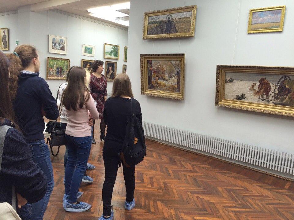Посещение студентами группы 1Т музея-усадьбы им. А.М.Герасимова