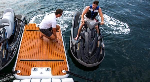 Superyacht Jetski inflatable dock