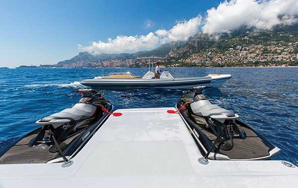 Superyacht Jetski and tender inflatable dock