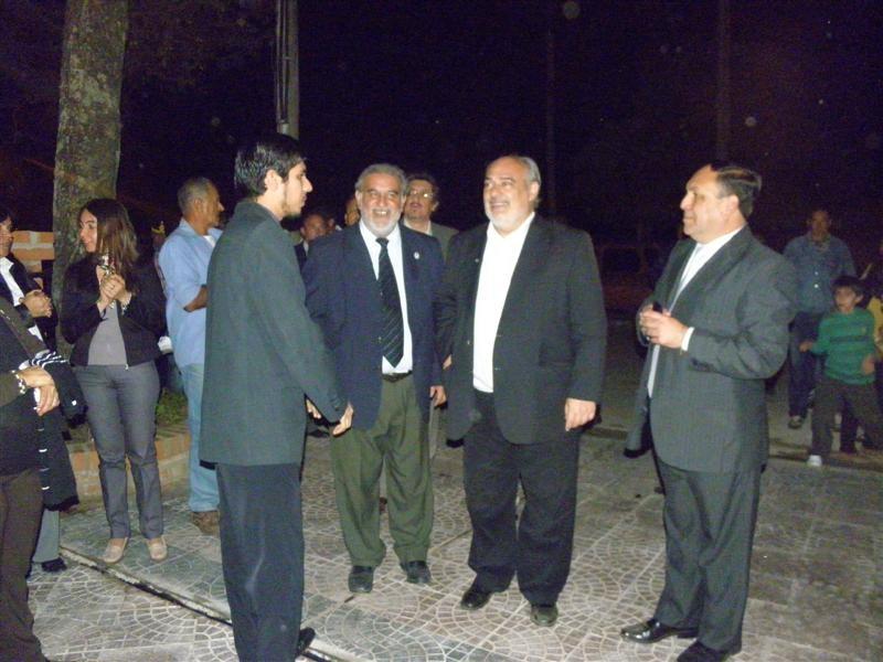 Llegada del gobernador Colombi y del intendente Ricardo Torrez