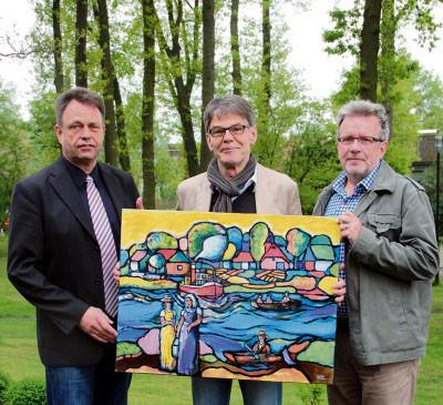Samtbürgermeister Klöpper -Künstler Pöllmann - Bürgermeister Karl Gerhard Tambke -