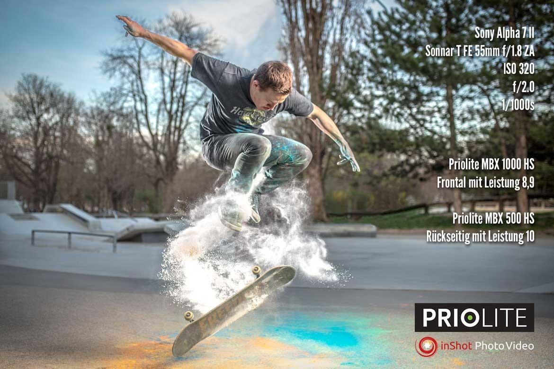 Priolite Hot Sync Shooting mit einer Sony Alpha 7 II (c) www.inshot.at