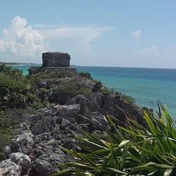 Maya Ruinen in Tulum, Yucatan