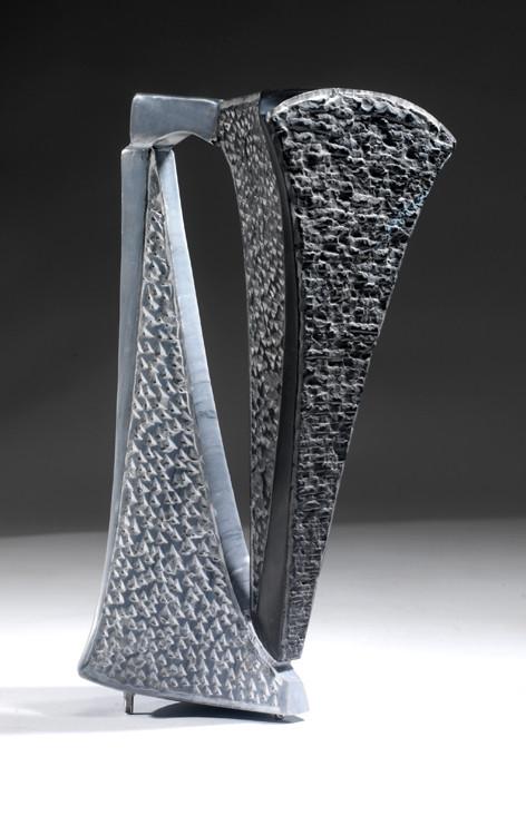 ponte verticale, marmo nero e marmo Bardiglio