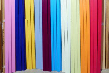 Farbenmüsterchen Holzleisten