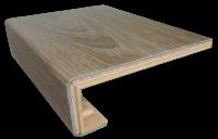 Muster der professionell gebogenen & verleimten Treppenkante