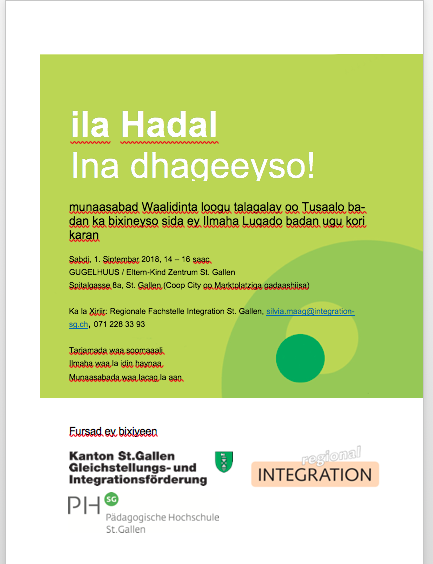 Waxa cusub -Aktuelles - somalia-sgs Webseite!