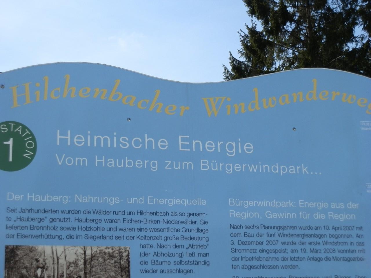 Auf Tafeln wurde einiges rund um die Windräder erklärt und...