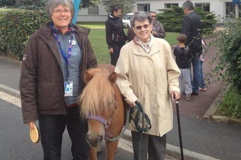 Les résidants ont guidé des poneys dans le parc du Bocage.