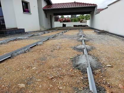 04-Après terrassement lignage pavé en périphérie