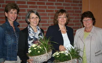v.l. Antje Meine, Ulrike Brinken, Simone Welzien, Ilsedore Heidmann