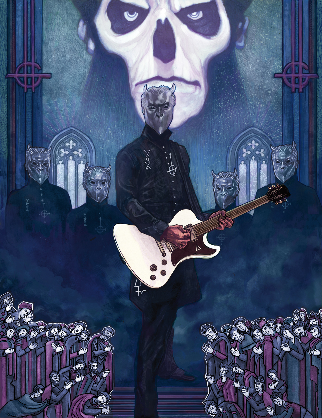 'Ghost'-Illustration for Guitar World Magazine