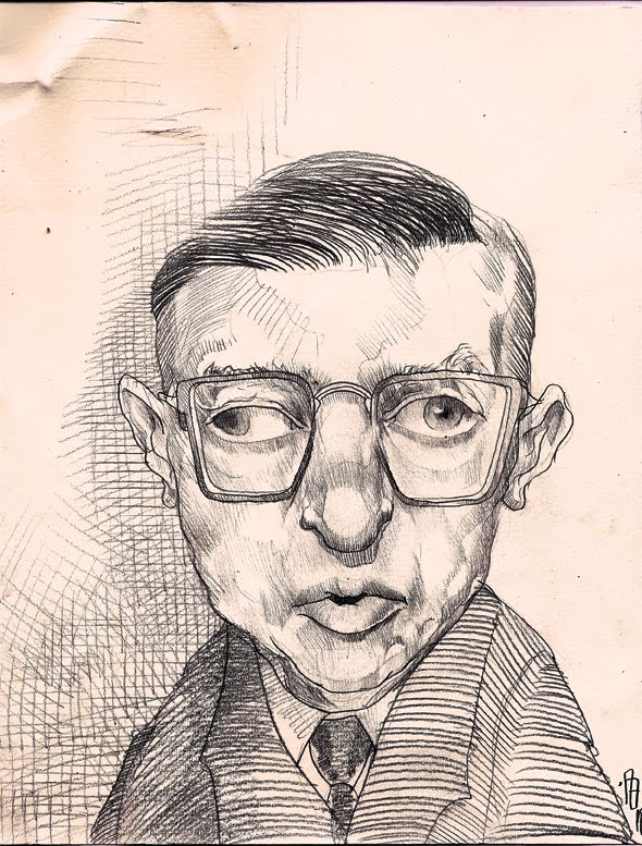 'Sartre' Illustration for Il Saggiatore Publishing