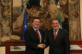 I due ex presidenti della Commissione Europea Prodi e Barrosso