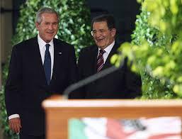 Romano Prodi con il Presidente Bush nel 2006