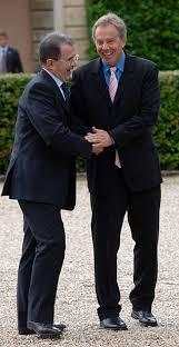 Romano Prodi con l'ex Primo Ministro del Regno Unito Tony Blair nel '97
