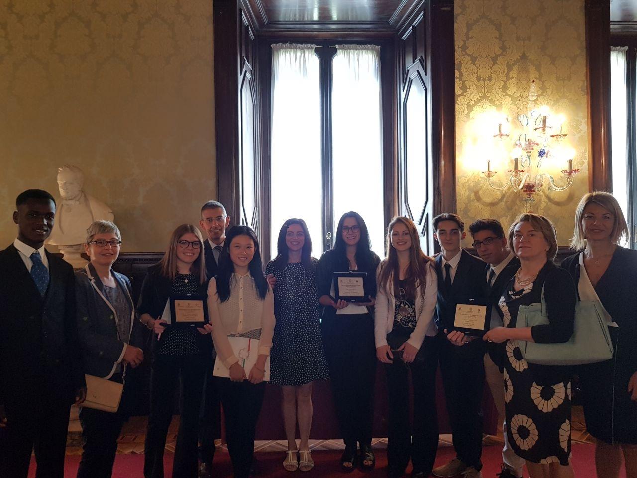 I tre vincitori della regione Emilia-Romagna: Liceo C. Sigonio (MO), ITCS Salvemini (BO), Istituto professionale Galvani-Iodi (RE)