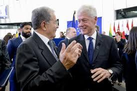 Con Bill Clinton ai funerali di stato europei di Helmut Kohl