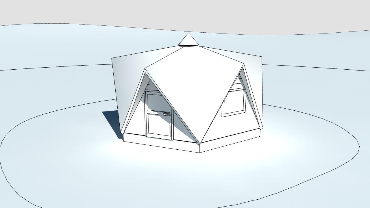 Zeichnung nach Visualisierung