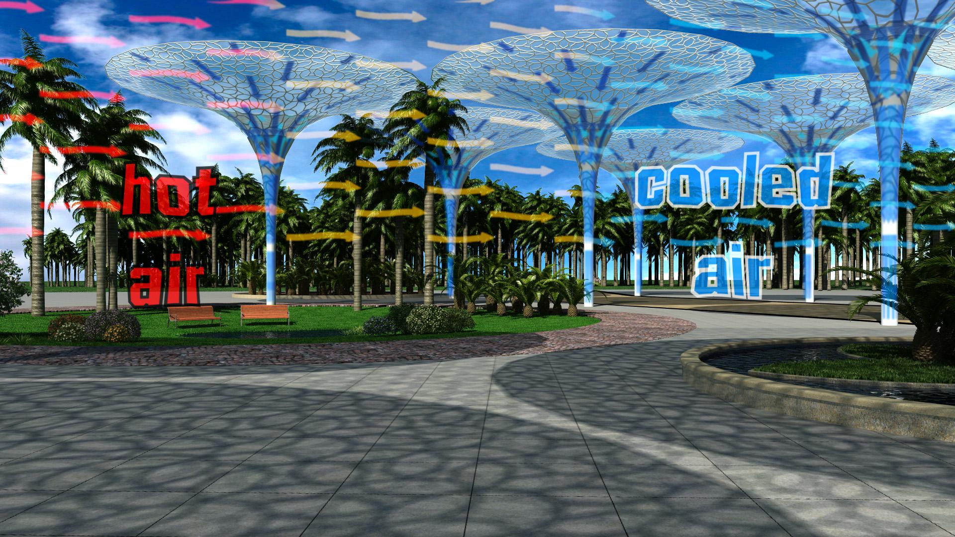 3D-Animation Klima, Wasser, Luft