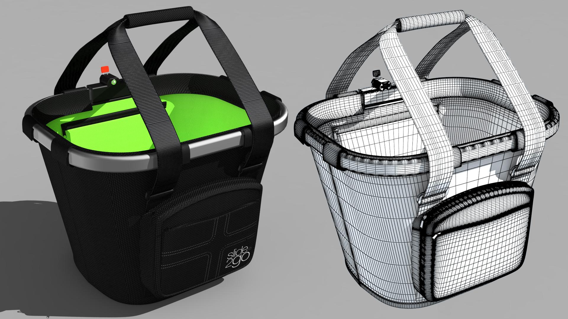 3D-Animation Fahrradtaschen