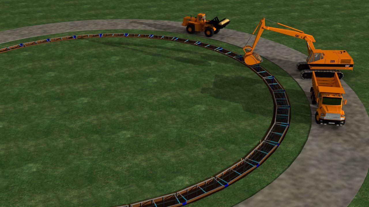 3D-Animation Pumpwerk / Baustelle