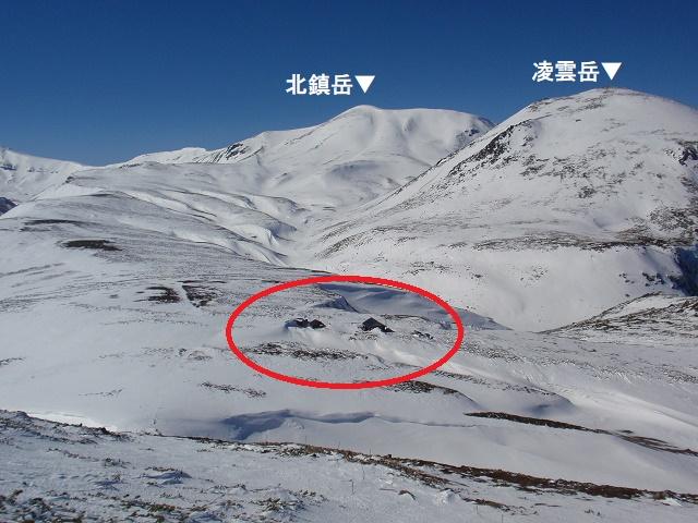 大雪山系黒岳石室