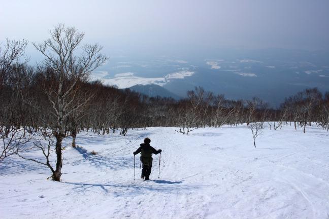 室蘭岳冬コース