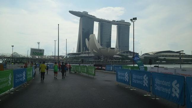 2018シンガポールマラソンゴール地点