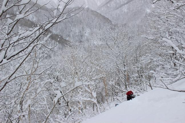 野塚岳への登り