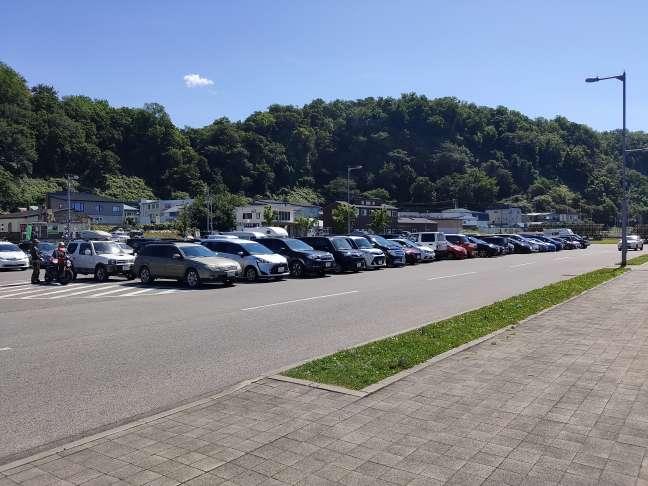 道の駅うとろシリエトク駐車場