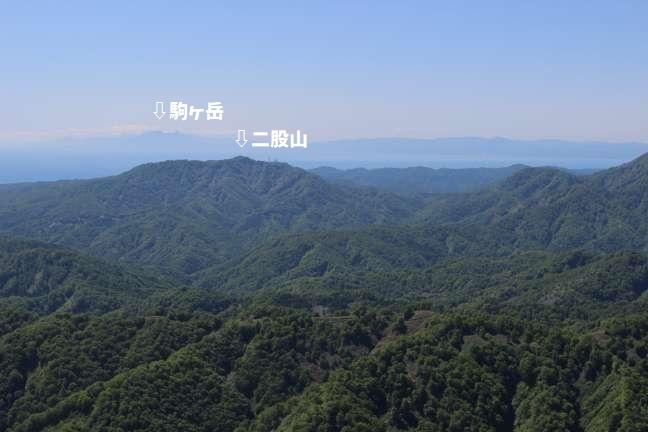 黒松内岳から噴火湾を挟んで渡島駒ヶ岳