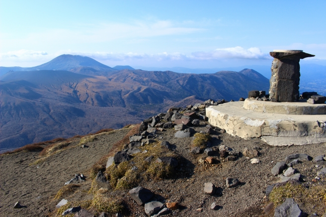 三角点側から霧島連山