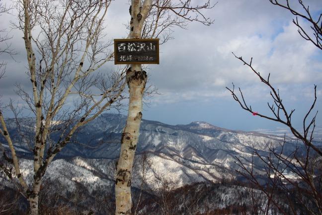百松沢山北峰山頂